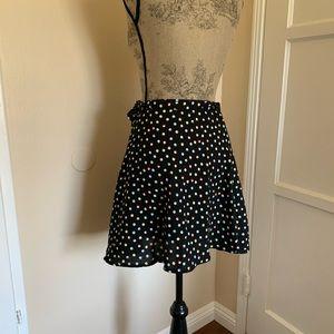 Volcom dot wrap skirt